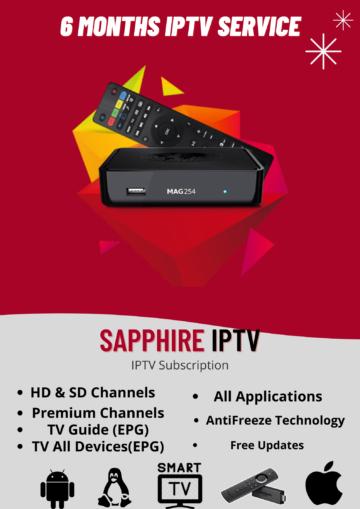 6 MONTHS IPTV Subscription