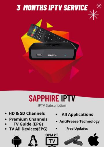 3 MONTHS IPTV Subscription