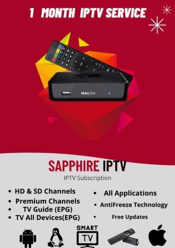 1 MONTHS IPTV Subscription